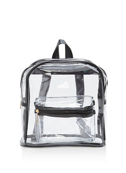 Clear Plastic Double Zip Backpack - 1124067448014