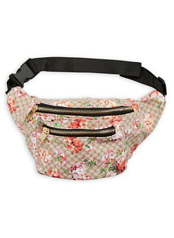 Floral Two Pocket Fanny Pack - 1124067448181