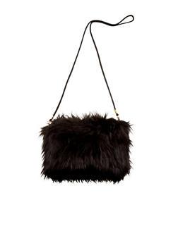 Faux Fur Convertible Crossbody Bag - 1124072340114