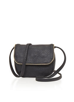Mini Crossbody Bag with Zipper Trim - 1124073401054