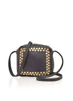 Square Crossbody Bag with Studs - 1124073401055
