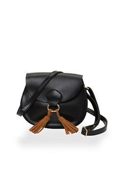 Mini Cross Body Bag with Tassel Trimmed Buckle - 1124073401063