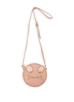 Round Cat Crossbody Bag - 1124073401076
