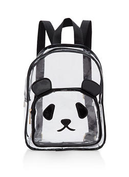 Clear Panda Backpack - BLACK/CLEAR - 1124073401614