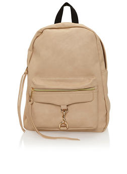 Faux Leather Back Pack - 1124073403184