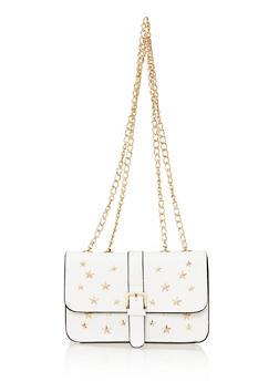 Double Strap Star Studded Crossbody Bag - 1124073409166