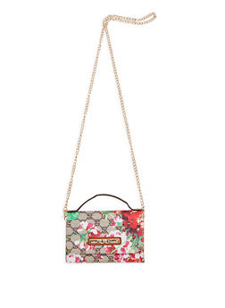 Floral Printed Mini Crossbody Bag - 1124073895105