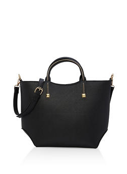 Faux Saffiano Leather Tote Bag - 1124073895156