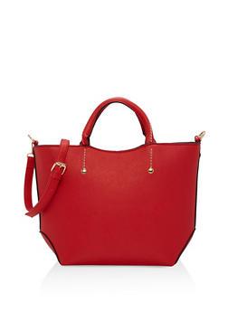 Faux Saffiano Leather Tote Bag - 1124073895156