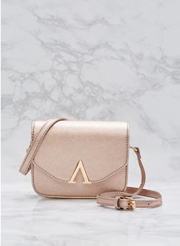 Small Faux Leather Crossbody Bag - 1124073895651