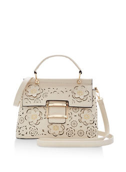 Laser Cut Flower Satchel - 1124073895767