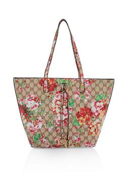 Floral Print Tote Bag - 1124073896001