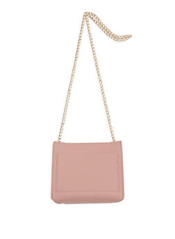 Faux Leather Chain Crossbody Strap - 1124073896043