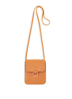 Faux Leather Ring Detail Crossbody Bag - 1124073896058