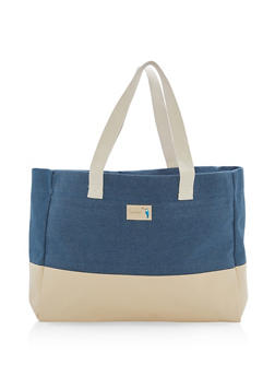 Large Denim Tote Bag - 1124074117309