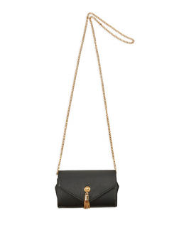 Metallic Tassel Crossbody Bag - 1124074390707