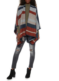 Cape Scarf in Color Block Knit - 1125067443612