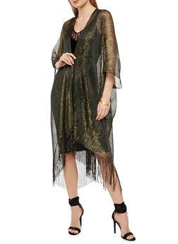 Glitter Knit Fringe Duster - 1125067447056
