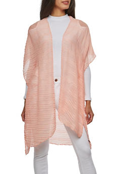Pleated Open Front Kimono - 1125067448010
