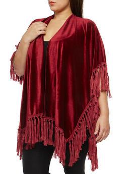Velvet Fringe Kimono - 1125067448014