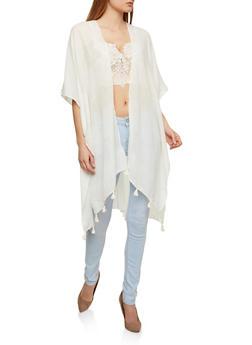 Tassel Trim Kimono - 1125067448034