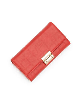 Embossed Wallet with Metal Lock - 1126060143010