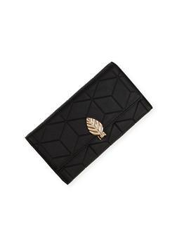 Embossed Wallet with Leaf Lock - 1126060143011