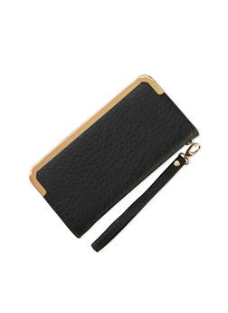 Wristlet Wallet with Metal Trim - 1126066980050
