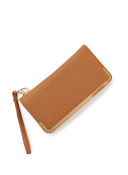 Wristlet Wallet with Metal Trim - 1126066980050