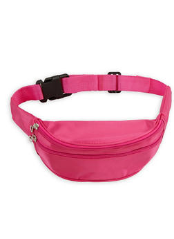 Double Zip Satin Fanny Pack - 1126067440806