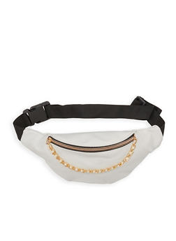 Faux Pearl Chain Fanny Pack - 1126067441308