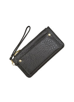 Zip Wristlet in Pebbled Leather - 1126067446140