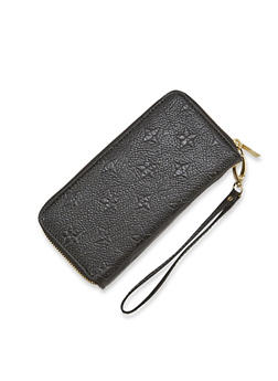 Wristlet Wallet with Double Zip Pockets - 1126067446196
