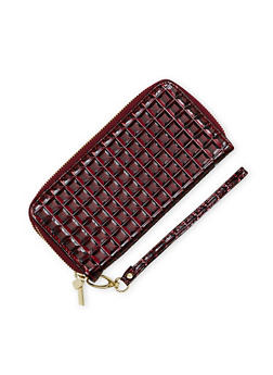 Double Zip Wristlet in Patent Leather - 1126067446210