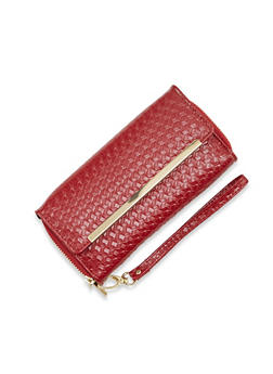 Wristlet Wallet with Double Zip Pockets - 1126067446211