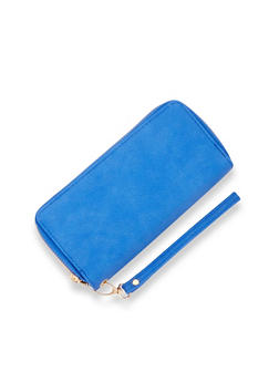 Double Zipper Wallet with Wrist Strap - 1126067446245