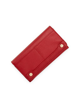 Foldover Wallet with Goldtone Hardware - 1126067446267
