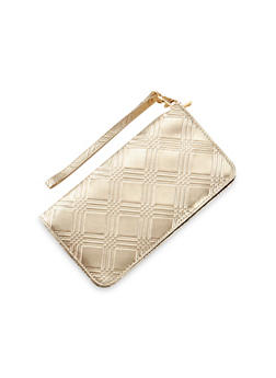 Embossed Wristlet Clutch - 1126067446269