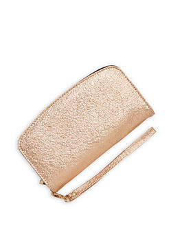 Textured Faux Leather Wallet - 1126067447064