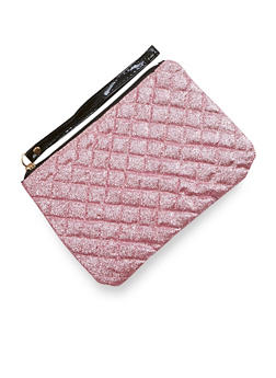 Quilted Glitter Clutch - 1126067447066