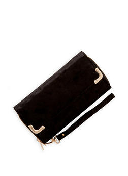 Double Zip Velvet Wallet - 1126067447070