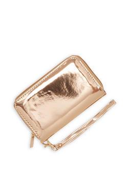 Faux Patent Leather Wristlet - 1126067447071