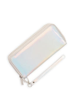 Holographic Double Zip Wallet - 1126067447093