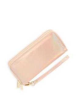 Holographic Double Zip Wallet - 1126067447093