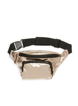 Faux Leather Zip Fanny Pack - 1126067447100