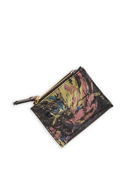 Mini Printed Faux Leather Bifold Wallet - 1126067447121