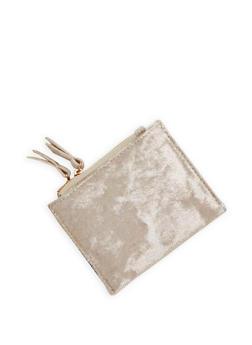 Mini Metallic Velvet Bifold Wallet - 1126067447123