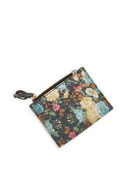 Mini Textured Metallic Faux Leather Bifold Wallet - 1126067447124