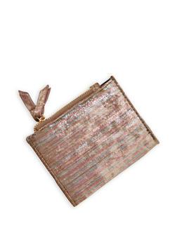 Mini Metallic Velvet Bifold Wallet - 1126067447126