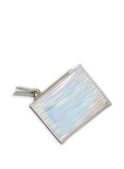 Mini Striped Metallic Bifold Wallet - 1126067447127